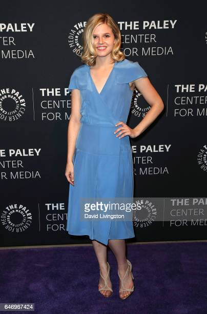 Actress Ana MulvoyTen attends a premiere screening and conversation for ABC's American Crime Season 3 presented by The Paley Center for Media at The...