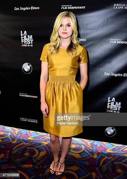 Actress Ana MulvoyTen attends The Girl in the Book screening during the 2015 Los Angeles Film Festival at Regal Cinemas LA Live on June 13 2015 in...