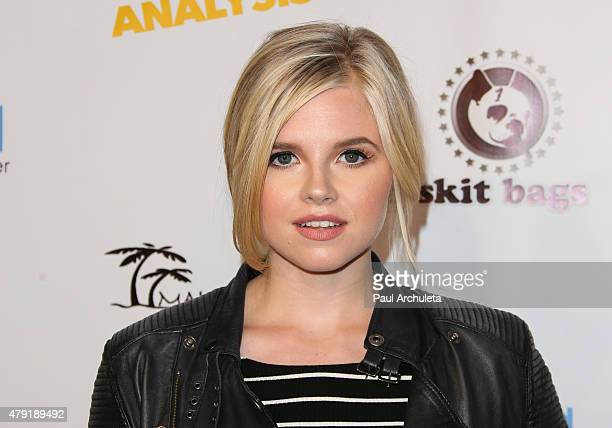 Actress Ana MulvoyTen attends the special screening of Ur In Analysis at the Egyptian Theatre on July 1 2015 in Hollywood California