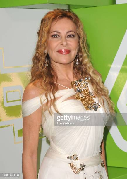 Actress Ana Obregon arrives at the TP Awards ceremony at IFEMA on February 10 2009 in Madrid Spain