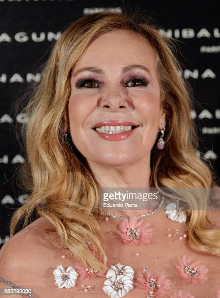 Actress Ana Obregon attends the Hannibal Laguna 30th anniversary Gala Dinner at the Santo Mauro hotel on November 30 2017 in Madrid Spain