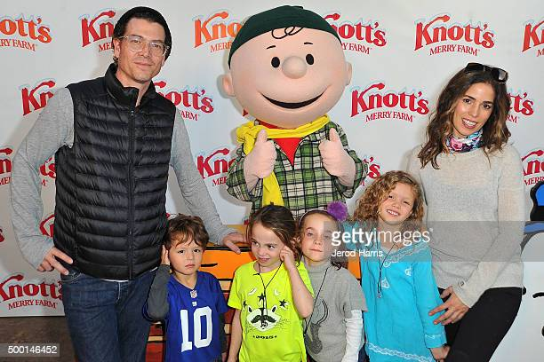 Actress Ana Ortiz and family attends Knott's Merry Farm Countdown to Christmas Tree Lighting at Knott's Berry Farm on December 5 2015 in Buena Park...