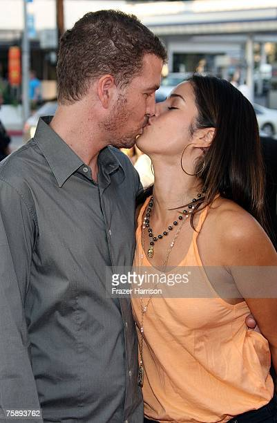 Actress Ana Ortiz and her husband Noah Lebenzon arrive to Picturehouse's premiere of El Cantante held at the Directors Guild of America Theatre on...