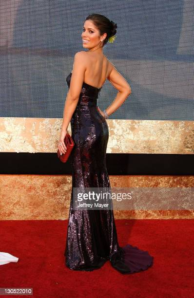 Actress Ana Ortiz arrives at the 59th Annual Primetime Emmy Awards at the Shrine Auditorium on September 16 2007 in Los Angeles California