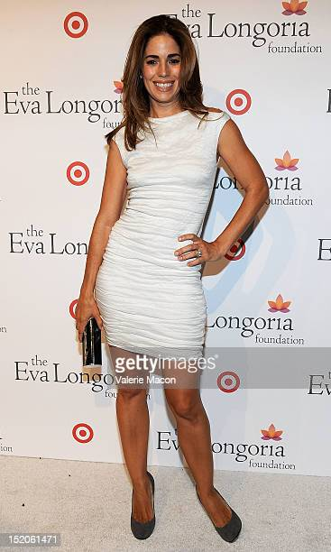 Actress Ana Ortiz arrives at The Eva Longoria Foundation's PreALMA Awards Dinner Presented By Target on September 15 2012 in Los Angeles California