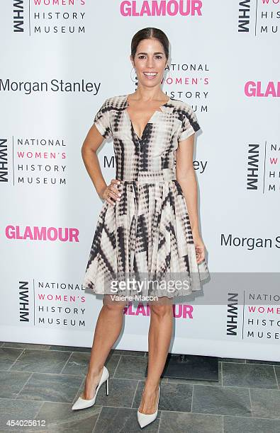 Actress Ana Ortiz arrives at the National Women's History Museum And Glamour Magazine's 3rd Annual Women Making History Eventat Skirball Cultural...