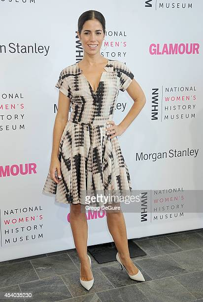 Actress Ana Ortiz arrives at the National Women's History Museum's 3rd Annual Women Making History event at Skirball Cultural Center on August 23...