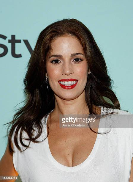 Actress Ana Ortiz attends a cocktail party honoring two greats at their game hosted by InStyle and Tiffany Co at The Cooper Square Hotel Penthouse on...