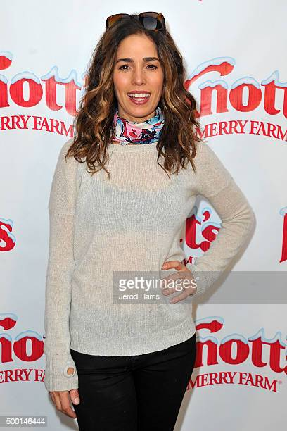 Actress Ana Ortiz attends Knott's Merry Farm Countdown to Christmas Tree Lighting at Knott's Berry Farm on December 5 2015 in Buena Park California