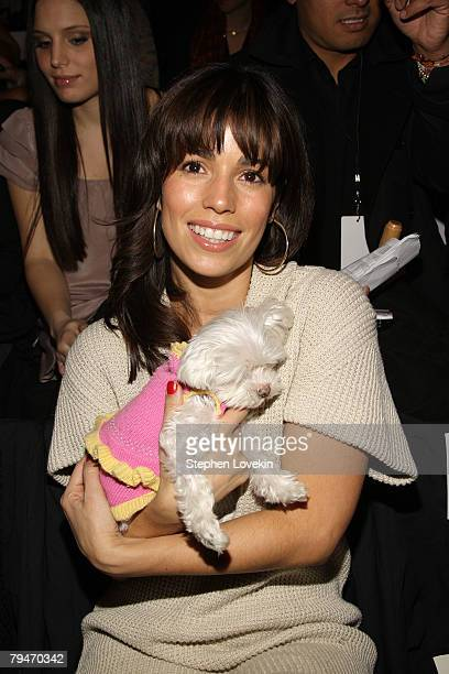 Actress Ana Ortiz attends the BCBGMAXAZRIA Fall 2008 fashion show during MercedesBenz Fashion Week Fall 2008 at The Tent at Bryant Park on February 1...