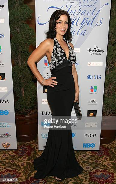 Actress Ana Ortiz attends The National Hispanic Media Coalition's 10th Annual Impact Awards Gala at the Regent Beverly Wilshire Hotel on February 23...
