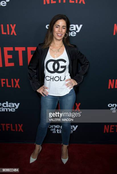 Actress Ana Ortiz attends the Netflix 'One Day At A Time' Season 2 Premiere Screening Event on January 24 2018 in Hollywood California / AFP PHOTO /...