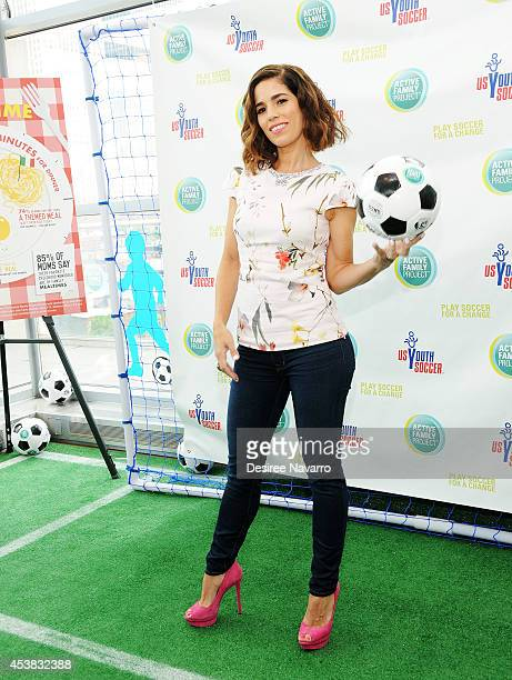 Actress Ana Ortiz attends the Play Soccer For A Change Campaign Kickoff at Penthouse 45 on August 19 2014 in New York City
