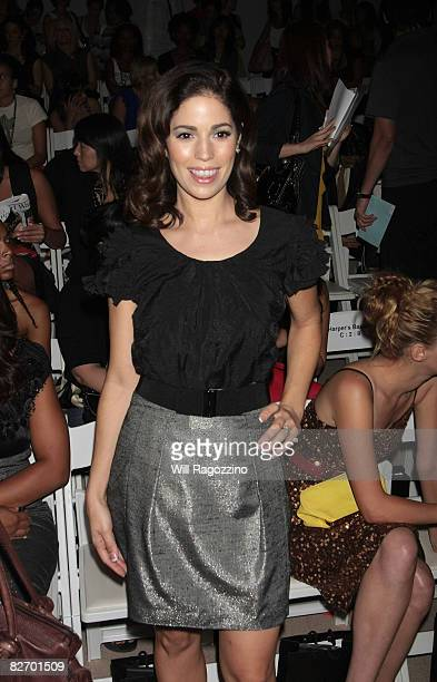 Actress Ana Ortiz attends the Tracy Reese Spring 2009 fashion show during MercedesBenz Fashion Week at The Promenade Bryant Park on September 7 2008...