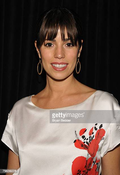Actress Ana Ortiz poses backstage at the Jayson Brunsdon Fall 2008 fashion show during MercedesBenz Fashion Week Fall 2008 at The Salon at Bryant...