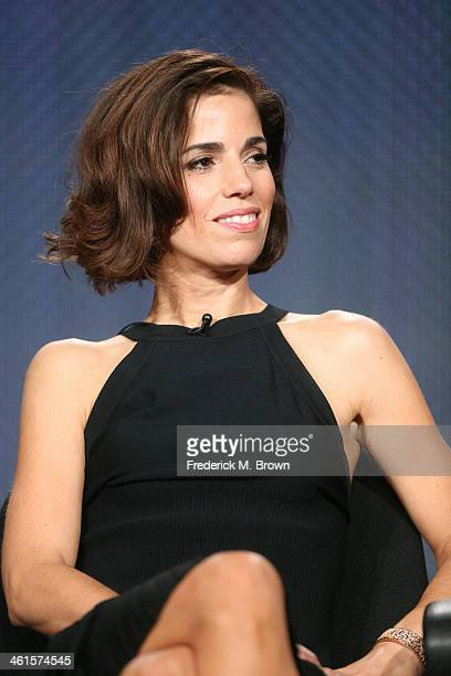Actress Ana Ortiz speaks onstage during the 'Lifetime Devious Maids' panel discussion at the Lifetime/AE Network' portion of the 2014 Winter...