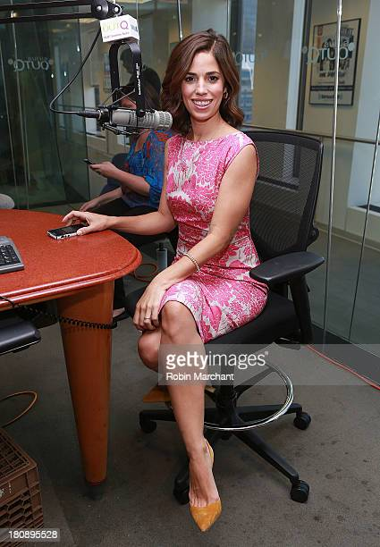 Actress Ana Ortiz visits 'The Morning Jolt with Larry Flick' on SiriusXM OutQ at SiriusXM Studios on September 17 2013 in New York City