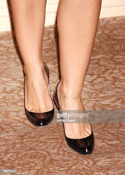 HILLS CA NOVEMBER 29 Actress Ana Ortiz's shoes at Project Angel Food's Divine Design Gala Awards dinner at the Beverly Hilton Hotel on November 29...