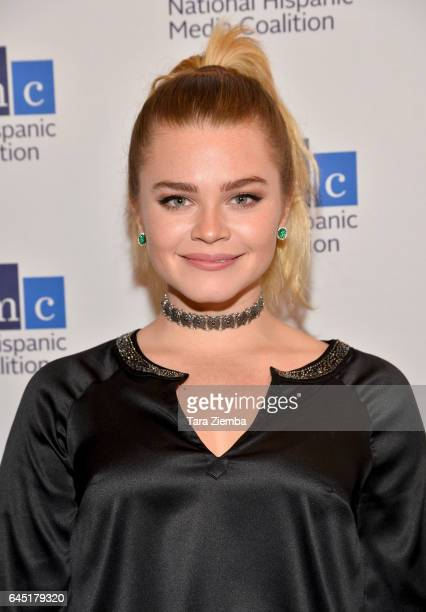 Actress Ana Osorio attends the National Hispanic Media Coalition's 20th Annual Impact Awards Gala at Regent Beverly Wilshire Hotel on February 24...