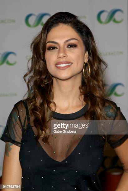 Actress Ana Paula Lima attends the ClexaCon 2018 convention at the Tropicana Las Vegas on April 6 2018 in Las Vegas Nevada