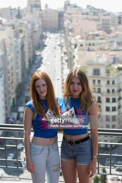 Actress Ana Polvorosa and Andrea Guasch attend 'Hoy No Me Puedo Levantar' presentation at Torre Madrid on June 11 2013 in Madrid Spain