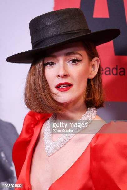 Actress Ana Polvorosa attends the 'Arde Madrid' premiere at Capito Cinema on November 7 2018 in Madrid Spain