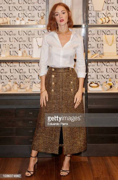 Actress Ana Polvorosa attends the 'UNOde50' photocall at UNOde50 store on September 20 2018 in Madrid Spain