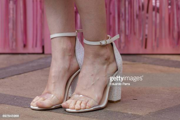 Actress Ana Polvorosa shoes detail attends the 'Pieles' photocall at 'Only You' hotel on June 6 2017 in Madrid Spain