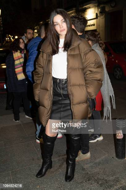 Actress Ana Rujas attends 'De Repente' premiere at the Lara Theater on February 05 2019 in Madrid Spain