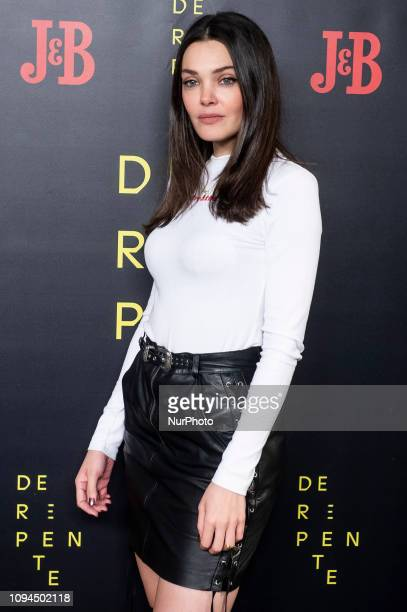 Actress Ana Rujas attends 'De Repente' theater play at Lara Theater in Madrid Spain February 05 2018
