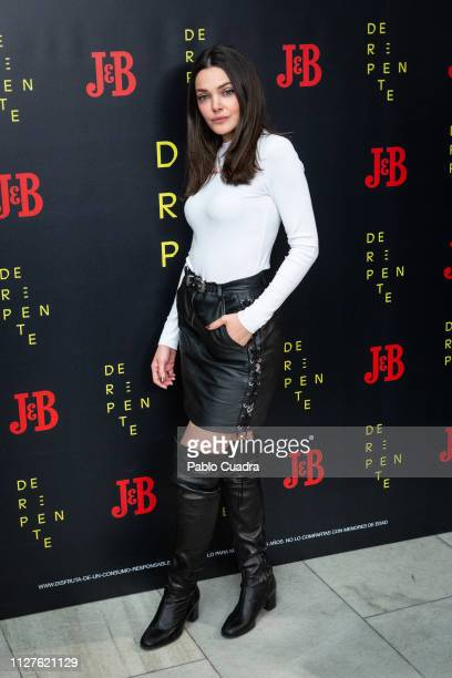 Actress Ana Rujas attends 'De Repente' theater play at Lara theater on February 05 2019 in Madrid Spain