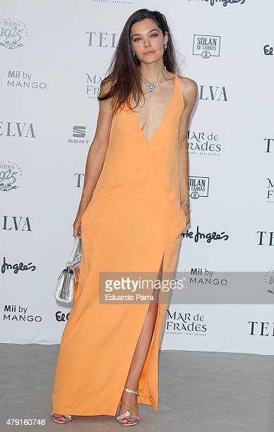 Actress Ana Rujas attends 'TELVA Fashion Catwalk 2015' photocall at Zarzuela Hippodrome on July 1 2015 in Madrid Spain