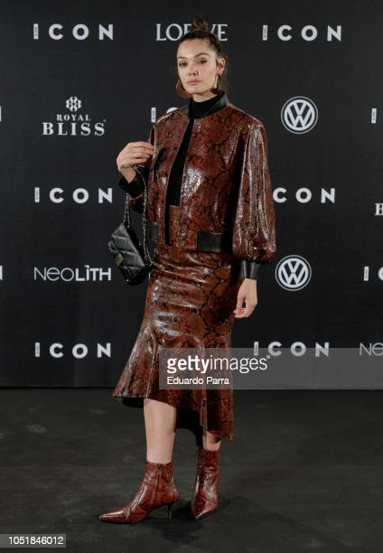 Actress Ana Rujas attends the 'Icon Awards 2018' photocall at Real Tapestry Factory on October 10 2018 in Madrid Spain
