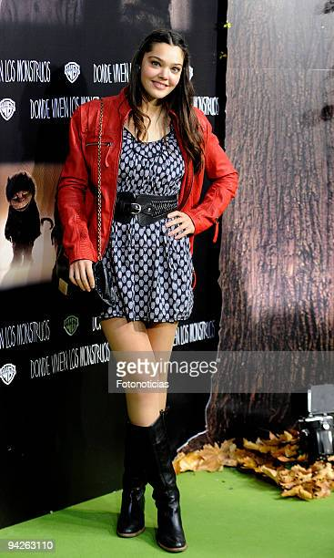 Actress Ana Rujas attends the premiere of ''Where The Wild Things Are'' at Callao cinema on December 10 2009 in Madrid Spain