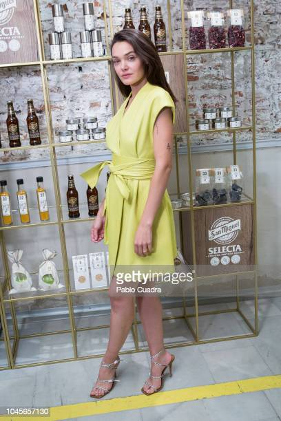 Actress Ana Rujas presents Exploratorium by San Miguel at 'Espacio Efimera' on October 4 2018 in Madrid Spain