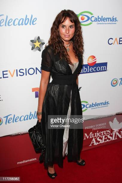 Actress Ana Serradilla attends the Mujeres Asesinas TV show launch on June 13 2008 at the Lunario del Auditorio Nacional in Mexico City