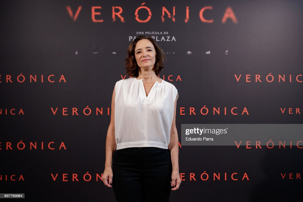Actress Ana Torrent attends a photocall for the film 'Veronica' at the Sony offices on August 23, 2017 in Madrid, Spain.