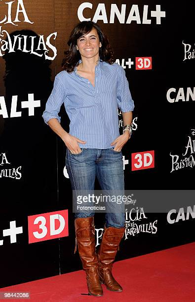 Actress Ana Turpin attends 'Alicia en el Pais de las Maravillas' premiere at Proyecciones Cinema on April 13 2010 in Madrid Spain