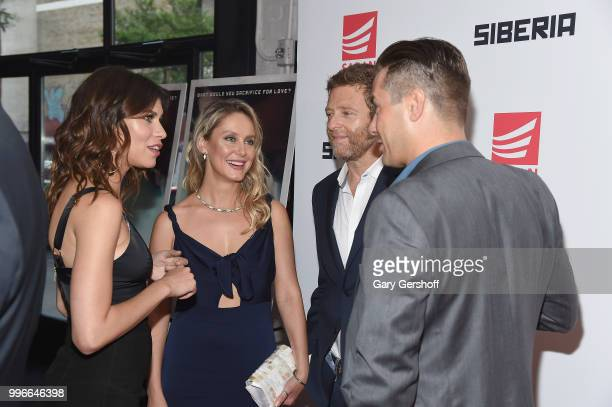 Actress Ana Ularu actress/producer Olga Tymshan and actors Dmitri Chepovetsky and Alex Kudrytsky attend the 'Siberia' New York premiere at The...