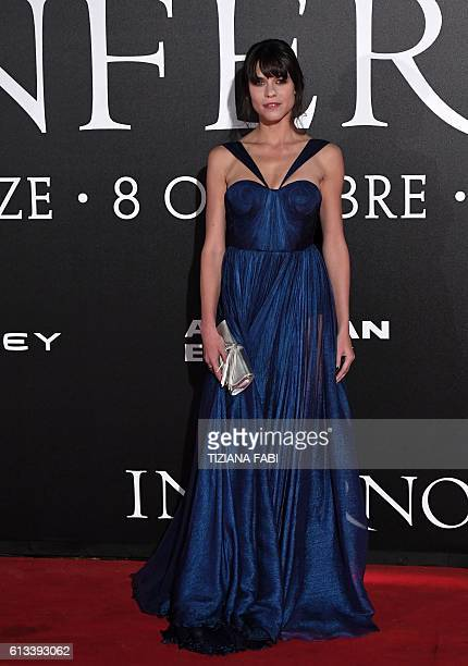 Actress Ana Ularu attends the world premiere of the movie Inferno on October 8 2016 in Florence / AFP / TIZIANA FABI