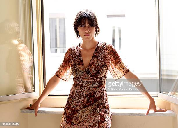 Actress Ana Ularu poses for a portrait session on August 11 2010 in Locarno Switzerland
