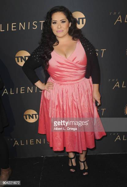 Actress Ana Vergara arrives for the Premiere Of TNT's 'The Alienist' held at Paramount Pictures on January 11 2018 in Los Angeles California