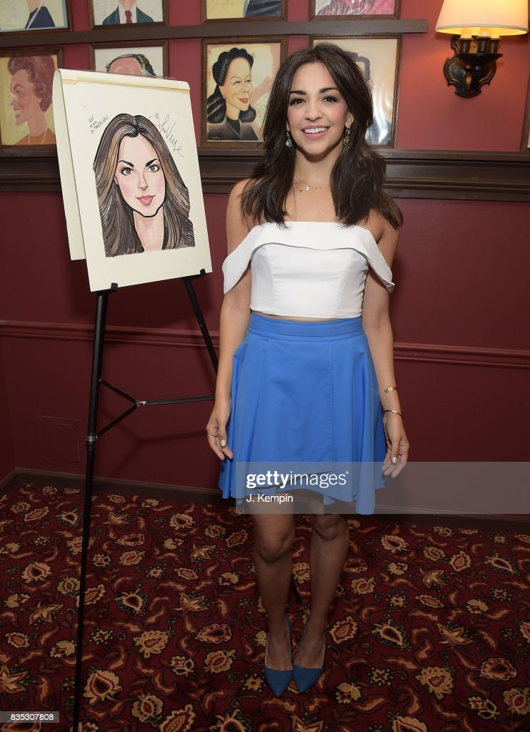 Actress Ana Villafae attends her caricature unveiling at Sardi's on August 18, 2017 in New York City.