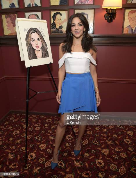 Actress Ana Villafae attends her caricature unveiling at Sardi's on August 18 2017 in New York City