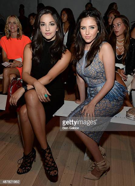 Actress Ana Villafane and Ryan Newman attend the Pamella Roland Spring 2016 fashion show at The Whitney Museum of American Art on September 11 2015...