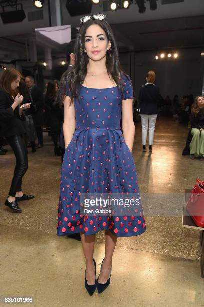Actress Ana Villafane attends Carolina Herrera Collection during New York Fashion Week on February 13 2017 in New York City