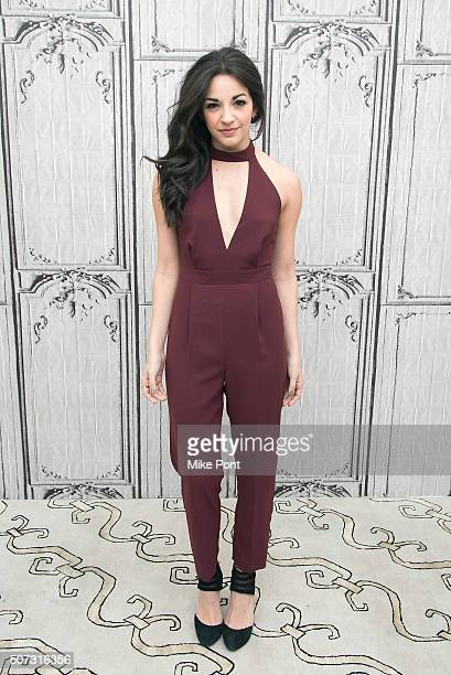 Actress Ana Villafane attends the AOL Build series to discuss the Broadway play 'On Your Feet' at AOL Studios In New York on January 28 2016 in New...
