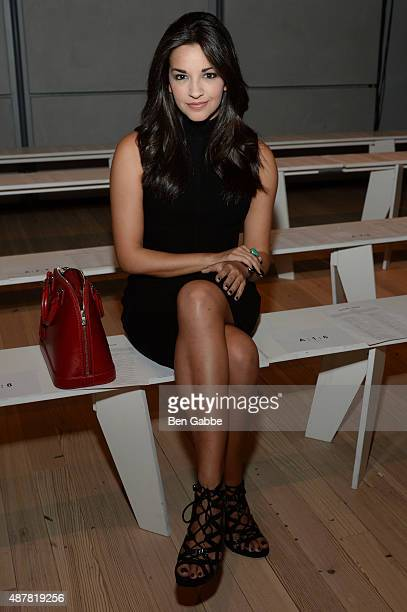Actress Ana Villafane attends the Pamella Roland Spring 2016 fashion show at The Whitney Museum of American Art on September 11 2015 in New York City