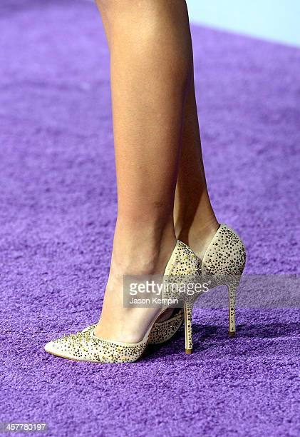 Actress Ana Villafane attends the premiere of Open Road Films' 'Justin Bieber's Believe' at Regal Cinemas LA Live on December 18 2013 in Los Angeles...