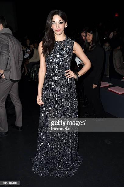 Actress Ana Villafane attends the Vivienne Tam Fall 2016 fashion show during New York Fashion Week The Shows at The Arc Skylight at Moynihan Station...